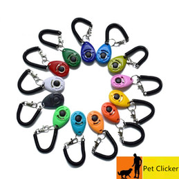 Pet Dog Training Clicker di scatto Whistle Agilità sussidio dell'addestratore di addestramento da polso Lanyard Dog Training Obedience Forniture Key Chain in Offerta