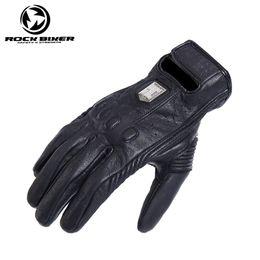 $enCountryForm.capitalKeyWord Australia - Men ROCK BIKER Retro Motorcycle Riding Gloves Four Seasons Motorcycle Racing Leather Sheepskin Breathable RBG-025