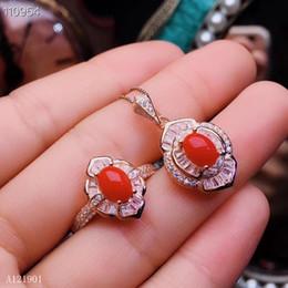 06617a9c26b9 KJJEAXCMY boutique de joyería de plata de ley 925 con incrustaciones de  coral rojo natural