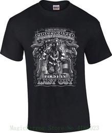 1ca68658e4 Men's American Firefighter T-shirt First In Last Out Fireman Rescue T-shirt  Men T Shirt Novelty O-neck Tops