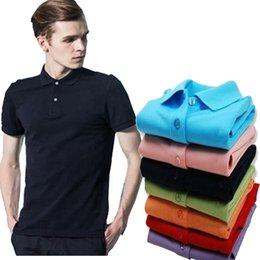 plus size pink polo shirt NZ - HOT High Quality Camisa Polo Slim Fit Men's Shirt Turn Down Collar Summer Men Polo Shirt Fashion Casual Polo Shirts Plus Size S-5XL