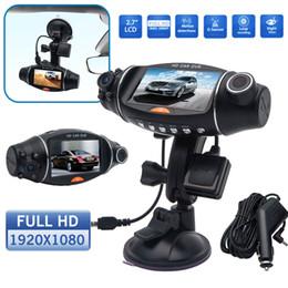 2.7 inch R310 Dual Lens HD Car DVR Camera GPS IR 140 Degree Night Vision Rear View Auto Car Camera G-sensor Recorder on Sale