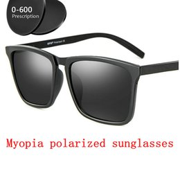 2341df5150e prescription Myopia Polarized Sunglasses Men 0 to -600 Minus Degree Optical  Squar Polarization Goggles Ultralight Frame FML