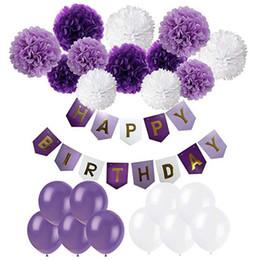 $enCountryForm.capitalKeyWord Australia - Theme Birthday Party Decoration with Banner Balloon Adult Party decoration supplies Party Tissue Paper Flower Birthday Supplies 5 Colors