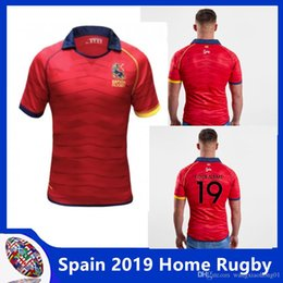 bfcbcfba7b9 2019 New Men Espana Rugby shirts,spain Rugby Jersey ESPANA RUGBY T-shirts,Tops  Quality Breathable Breathable SportWear size S-3XL(can print)