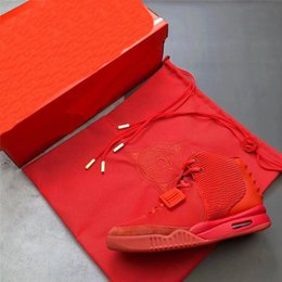 $enCountryForm.capitalKeyWord Australia - 2 colors Kanye West Air 2 SP SOLAR Red October Glow In The Dark Men Basketball Shoes Sports Sneakers With Original box