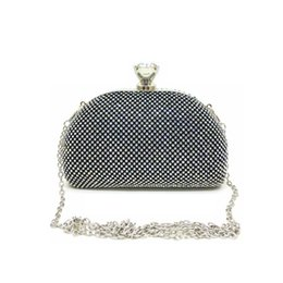 Ladies Rhinestone Handbags NZ - Women Handmade Diamonds Clutch Bags Solid Color Shiny Rhinestone Small Handbags Lady Party Small Evening Bag 2019 Bolsa Mujer