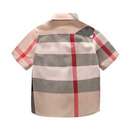 $enCountryForm.capitalKeyWord Australia - Designer Child Shirts 2019 Summer Luxury T Shirt British Style Plaid Tops Casual Gentleman Boy Wearing Childrens Clothings Thin Jackets