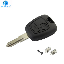 $enCountryForm.capitalKeyWord Australia - For Peugeot 106 206 306 406 Key Shell 2 Button Ne73 Blade Replacement Remote Control Car Cover Case With 2 Micro Switch