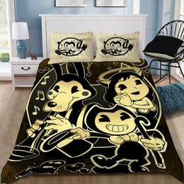 Discount elegant queen size bedding sets - Bendy And The Ink Machine Game Cartoon Elegant Classic 3D Bedding Sets Printed Duvet Cover Set Queen King Twin Size