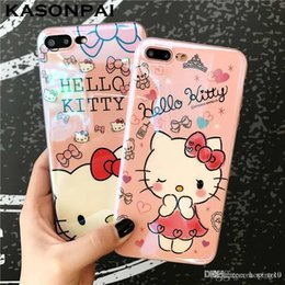 kitty back case Australia - Fahion Mytoto Blu-ray Cute Cartoon Hello Kitty Cat Soft TPU Case for iPhone 6 6s xr xs cy Artistic Back Cover Case for iphone 7