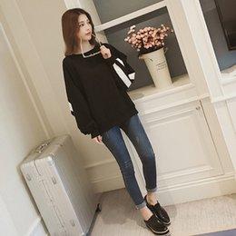 $enCountryForm.capitalKeyWord Australia - Korean Style Plus Size Black Block White Striped Long Streetwear Sweatshirt Coat Autumn Casual Campus Women Sweatshirts Harajuku