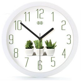 Discount wall watch silent - 2019 Silent Wall Clock Watch Home Decor Livingroom Bathroom Horloges Murales Wrought Iron Wall Decorations Clock Watch W