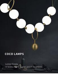 Necklaces Pendants Australia - Postmodern Nordic Living Room American Style pendant lamp Restaurant Glass Ball Necklace Creative pendant lights