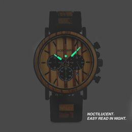 $enCountryForm.capitalKeyWord NZ - Bobo Bird Relogio Masculino Watch Men Metal And Wooden Case Auto Date Male Sport Wristwatch Accept Logo Customize B-p09 Y19052103