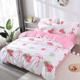 $enCountryForm.capitalKeyWord Australia - Flamingo bedding set luxury Zebra kids Bedding lines duvet cover set Pillowcase fitted sheet bedspread twin queen king drop ship