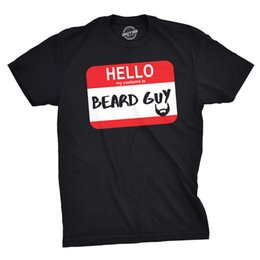 $enCountryForm.capitalKeyWord UK - Mens Hello My Costume Is Beard Guy Funny Halloween Name Tag T shirt Chinese Style printing short sleeve knitted comfortable