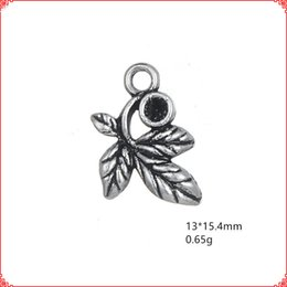 $enCountryForm.capitalKeyWord Australia - 30pcs Antique vintage tibetan silver small leaf charms metal dangle alloy pendants for necklace bracelet earring diy jewelry making