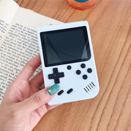connection box NZ - Mini Game Console Built-in 400 Games 5 Colors Handheld Retro Game Player FC Classical Game Box 3.0 Inch LCD Screen With TV Connection