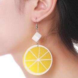 $enCountryForm.capitalKeyWord Australia - 2019 new brand design hand made lemon slice earrings minimalist generous summer earrings gift for women
