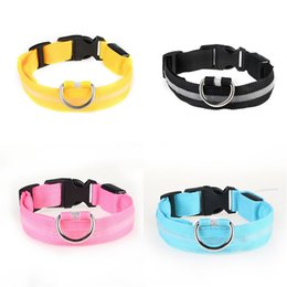 personalized lit dog collar Australia - 2020 Dogs Pet Supplies Dog Luminous Led Collar Rechargeable Led Collar Large Medium And Small Dog Pet Collars Rechargeable Light Pet Coll #86