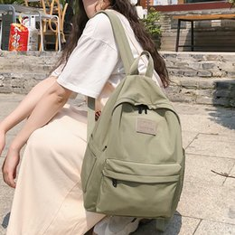 waterproof school book bag Canada - Female Vintage backpack cute women school bags for teenage girls waterproof nylon kawaii backpack ladies luxury student bag book T190920