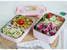 $enCountryForm.capitalKeyWord NZ - Stainless steel insulated lunch box 1200 ml 2 layer With Compartments cartoon School Bento Box For Student Children Picnic Food Container