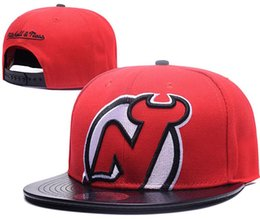 Wholesale DeVILS Hockey NEW JERSEY knit Beanies Embroidery Adjustable Hat Embroidered Snapback Caps Black Gray White Stitched Hats One Size