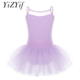Ballet Tutu Dancewear Australia - YiZYiF Professional ballet Tutu Dress For Girls Sleeveless Tulle Ballet Dancer Leotard Dress ballerina Dancewear Clothes