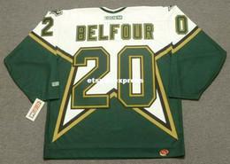 $enCountryForm.capitalKeyWord Australia - custom Mens ED BELFOUR Dallas Stars 1999 CCM Jerseys Home Cheap Retro Hockey Jersey