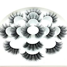 Discount volume lashes - NEW 7 pairs natural false eyelashes Dramatic Volume fake lashes long mink lashes eyelash extension mink eyelashes for be