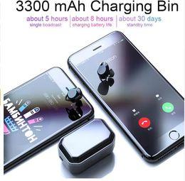 $enCountryForm.capitalKeyWord Australia - Cheap TWS 5.0 Bluetooth 9D Stereo Earphone Wireless Earphones IPX7 Waterproof Earphones 3300mAh LED Smart Power Bank Phone Holder