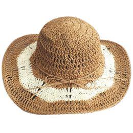 $enCountryForm.capitalKeyWord UK - Band New Women'S Crochet Hollow Dome Summer Hats For Women Mesh Straw Hat Foldable Sun Hat Fashion Beach Sombrero