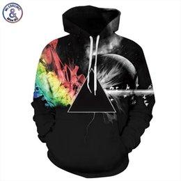 rainbow hoodies 2019 - Mr.1991INC Brand Sweatshirts Men women 3d Sweatshirts Print Sunlight Refraction Rainbow Hooded Hoodies Pullover Tops Hoo