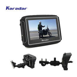 gps stock Australia - KARADAR Prolech Rider, 4.3 inch touchscreen 2 colors in stock A Motorcycle GPS Guidance System Free Shipping