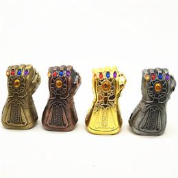 Buckle Fists Australia - The Avengers Thanos Gloves Pendant Keychain Infinite War Fist Beer Bottle Opener Creative DIY Exquisite Key Buckle Portable 7 5jg I1