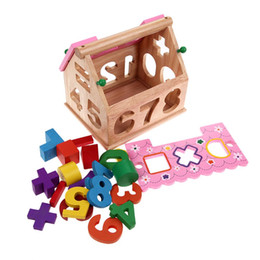 $enCountryForm.capitalKeyWord Australia - Blocks Kids Bricks Toys Shape Sorting Puzzle Board Smart House Geometric Nesting Stacker Baby Toddler Wooden Educational Toys for Children