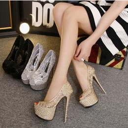 $enCountryForm.capitalKeyWord Australia - Desinger for Night club party wed  dress shoes lady sandals super high stiletto heel 15cm peep toe platform shoe Lace free shipping