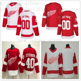 095f9d60493 Custom Detroit Red Wings Hockey Jersey New 3 Nick Jensen 30 Justin  Kowalkosli 55 Niklas Kronwall Anthony Mantha Frans Nielsen Thomas Vanek