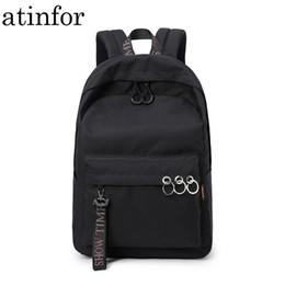 $enCountryForm.capitalKeyWord NZ - Waterproof Women Backpack Black And Pink Travel Bookbag Lady Back Bag Keychain Knapsack College School Bag For Girls Y19061102