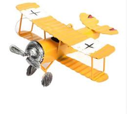 Airplane Art Australia - Iron Retro Airplane Figurines Metal Plane Model Vintage Glider Biplane Miniatures Home Decor Aircraft for Kids Gift
