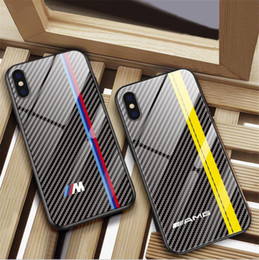 clip phone pouch 2019 - New stylish carbon fiber tempered glass mobile phone case FOR:IPHONE Samsung Huawei 6S 7 8 X XR XS MAX PLUS cheap clip p