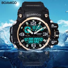 $enCountryForm.capitalKeyWord Australia - Boamigo Brand Men Sports Watches Led Digital Analog Wrist Watch Swim Waterproof Yellow Rubber Gift Clock Relogios Masculino GMX190711
