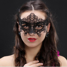 dancing mask for girls 2019 - Sexy Lace Party Masks New Women Ladies Girls Xmas Cosplay Costume Masquerade Dancing Valentine Half Face Mask DH0322 che