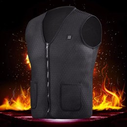 heated jackets NZ - Upgraded Unisex Heated Vest Insulated Jacket, Thermal USB Electric Heating Clothes for Winter Activities, Relieving Pain