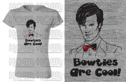 Blue Bowties Australia - Doctor Who Matt Smith Bowties Are Cool! inspired Ladies Geeky Fan Art Tshirt BBC Men Women Unisex Fashion tshirt Free Shipping