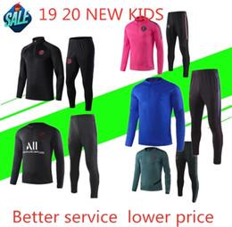 Chinese  New kids Psg tracksuit 2019-2020 psg soccer tracksuit GRIEZMANN MBAPPE 19 Paris child Football Training suit manufacturers