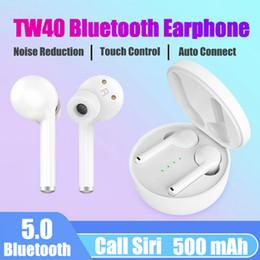 $enCountryForm.capitalKeyWord Australia - TWS Bluetooth 5.0 sports stereo TW40 headphones wireless headphones Dual Microphone in-ear Bluetooth headphones for Huawei Xiaomi