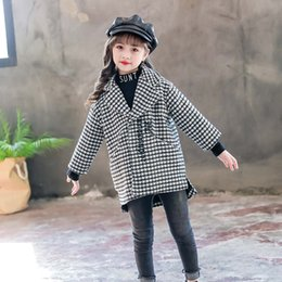 Jackets For Autumn Australia - 2018 Children Clothing Spring Autumn Coats Jackets For Girls Windbreakers Outerwear Worsted Coat Kids Outerwear Children Clothes