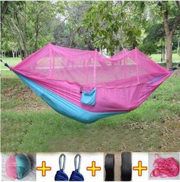 Net Games Australia - Mosquito Net Hammock 15 Colors 260*140cm Outdoor Parachute Cloth Field Camping Tent and shelters Garden Camping Swing Hanging Bed